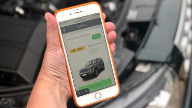 Doing a vehicle check online