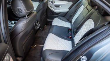 Mercedes C 300 de - rear seats