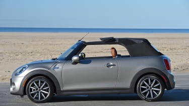 MINI Cooper S Convertible 2016 review - roof opening 3