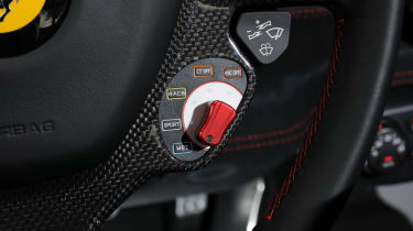 Ferrari 458 Speciale mode selection dial