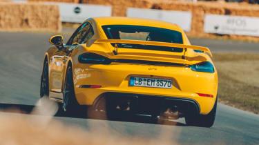 Porsche 718 Cayman GT4 - rear action
