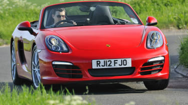 Porsche Boxster cornering