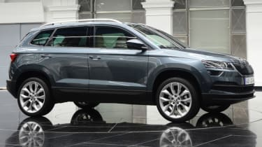 Skoda Karoq almost side profile