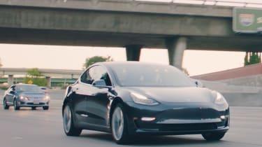 Tesla Model 3 tracking