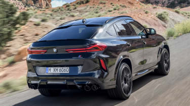 BMW X6 M Competition - rear action