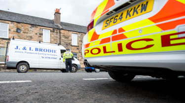Police stop van