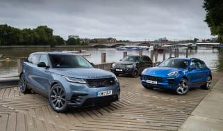 Range Rover Velar vs Porsche Macan vs BMW X5 - header