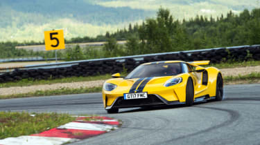 Ford GT Norway road trip - front drift track