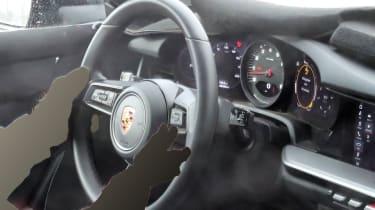 Porsche 911 spy steering wheel and dials