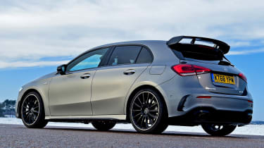 mercedes-amg a35 static rear quarter