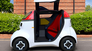 Gordon Murray Design Motive Pod - door open