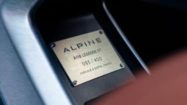 Alpine A110 Legende GT - plaque