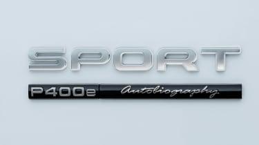 Range Rover Sport PHEV - P400e badge