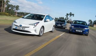 Toyota Prius vs VW Golf GTE vs Ford Mondeo Hybrid - header