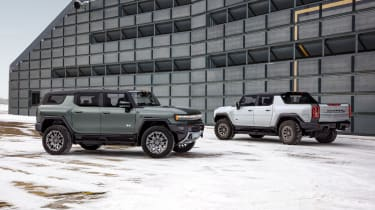 Hummer EV GMC - front and rear