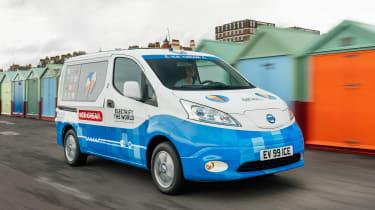 Nissan ice cream van - front action