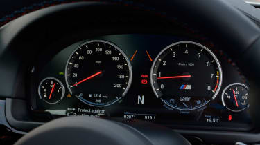 BMW M5 Competition Pack dials