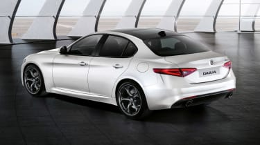 Alfa Romeo Giulia - rear white