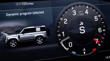 Land Rover Defender V8 - dials