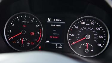 Kia Rio facelift - dials