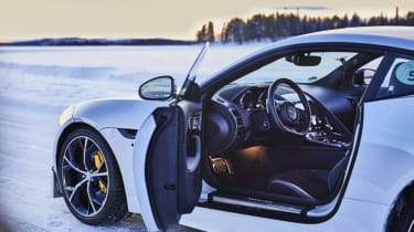Best winter driving courses - F-Type snow interior