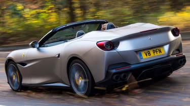 Ferrari Portofino - rear tracking fast