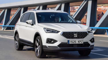 SEAT Tarraco - white front tracking