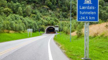 Record breaking roads - Laerdal Tunnel, Norway (entrance)