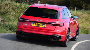 Audi RS 4 Avant long termer first report - rear action