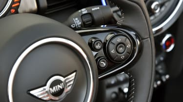 MINI Cooper S Convertible 2016 review - steering wheel buttons
