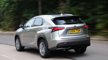 Lexus NX rear driving