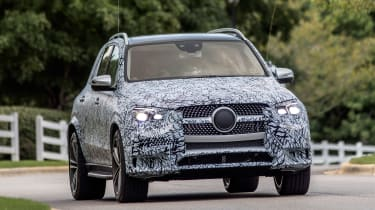 Mercedes GLE prototype - front tracking