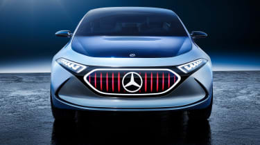 Mercedes EQA concept - full front red