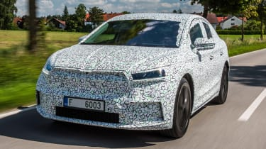 Skoda Enyaq iV coupe prototype - front tracking