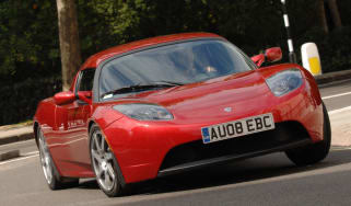 Tesla Roadster front cornering