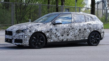 2019 BMW 1 Series spy shot front quarter