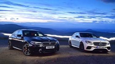 BMW M5 vs Mercedes-AMG E 63 S - static