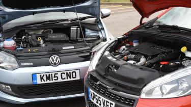 Volkswagen Polo vs Peugeot 208 - engines