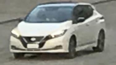 Nissan Leaf no disguise spy shot front quarter