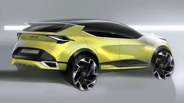 Kia Sportage sketch - rear front