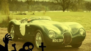 scary cars jaguar c-type