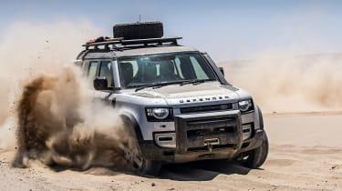 Land Rover Defender off road sand