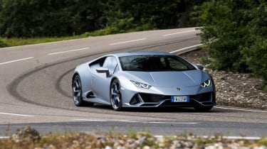 Lamborghini Huracan Evo - front cornering