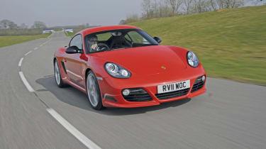 Porsche Cayman R front track
