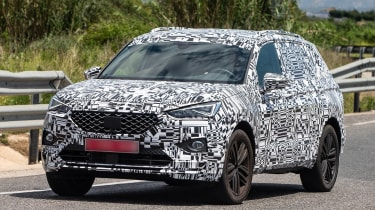 SEAT Tarraco spied - front
