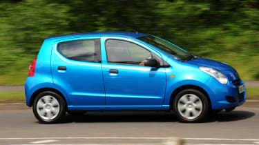 The Alto has agile handling but loses grip quickly.