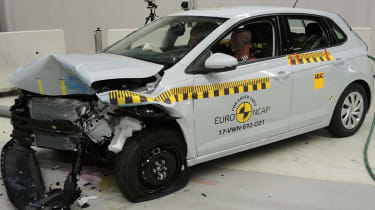 VW Polo - Frontal Offset Impact test - after crash