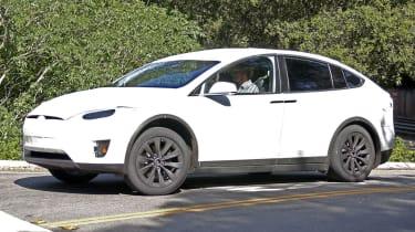 Tesla Model X spyshots front side