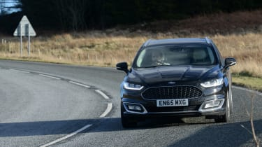 Ford Mondeo Vignale road trip - front cornering