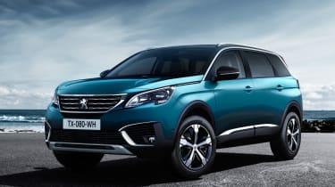 New Peugeot 5008 2016 - blue front quarter